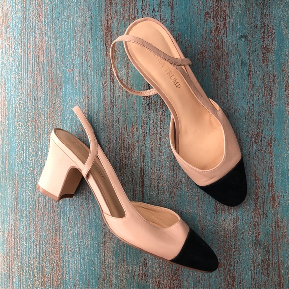 51b5fb23c Ivanka Trump Shoes - Ivanka Trump Nude Black Cap Toe LIAH Pump 7.5